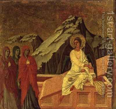 Maesta The Three Maries at Christs Tomb by Buoninsegna Duccio di - Reproduction Oil Painting
