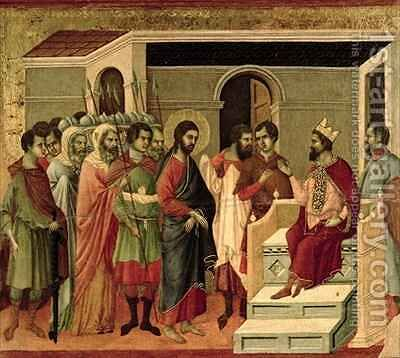 Maesta Jesus before Herod by Buoninsegna Duccio di - Reproduction Oil Painting
