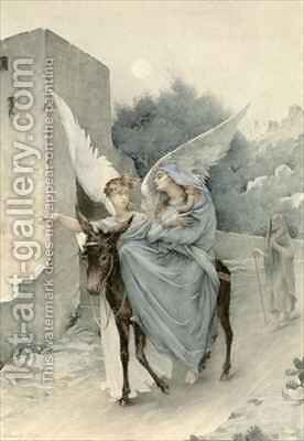 The Flight from Egypt by Edouard-Marie-Guillaume Dubufe - Reproduction Oil Painting