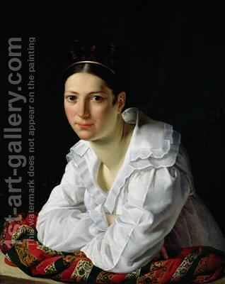 Madama Claude Marie Dubufe 1793-1837 by Claude-Marie Dubufe - Reproduction Oil Painting