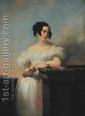 Portrait of Madame Vaussard by Claude-Marie Dubufe - Reproduction Oil Painting