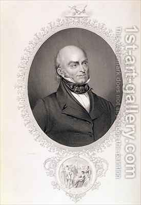 John Quincy Adams by (after) Dubourjal, Savinien Edme - Reproduction Oil Painting
