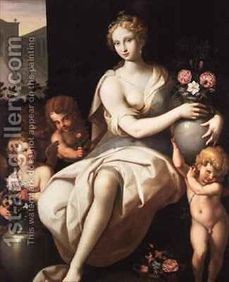 Flora by Ambroise Dubois - Reproduction Oil Painting