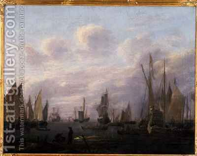 Port Entrance by Hendrick Dubbels - Reproduction Oil Painting