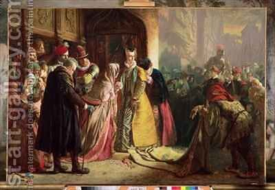 Return of Mary Queen of Scots to Edinburgh by James Drummond - Reproduction Oil Painting