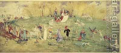 The Fairy Queen  A Procession by Charles Altamont Doyle - Reproduction Oil Painting
