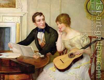 Musical Interlude by Delapoer Downing - Reproduction Oil Painting