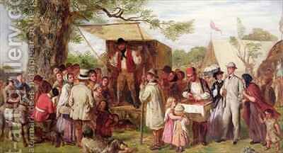 Cheap Jack at the Country Fair by Ebenezer Newman Downard - Reproduction Oil Painting
