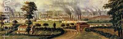 Leeds from Rope Hill by Alphonse Douseau - Reproduction Oil Painting
