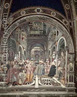 Pope Celestine III Grants Autonomy to the Hospital of Siena by Bartolo Domenico di - Reproduction Oil Painting