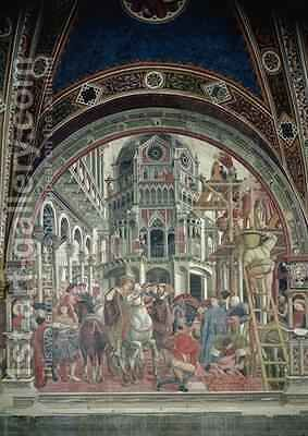 The Extension of the Hospital by Bartolo Domenico di - Reproduction Oil Painting