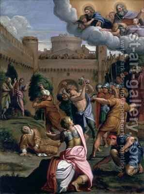 The Stoning of St Stephen by Domenichino (Domenico Zampieri) - Reproduction Oil Painting