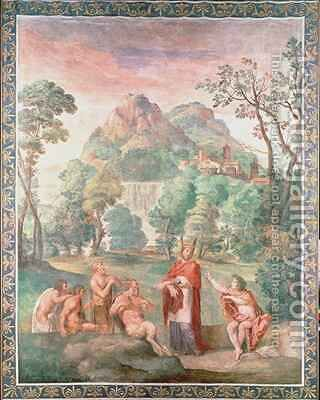 The Judgement of Midas by Domenichino (Domenico Zampieri) - Reproduction Oil Painting