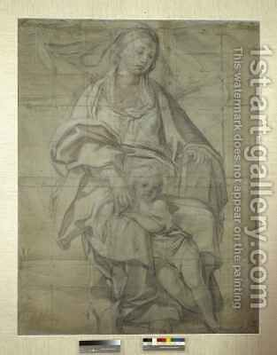 Madonna and Child by Domenichino (Domenico Zampieri) - Reproduction Oil Painting