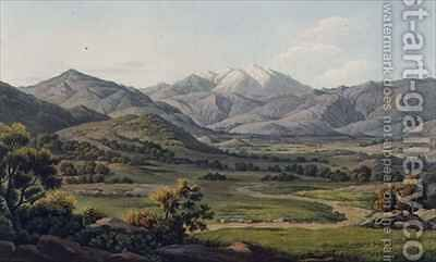 Mount Olympus as seen between Larissa and Baba by (after) Dodwell, Edward - Reproduction Oil Painting