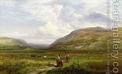 The Caledonian Valley Scotland by Mark Edwin Dockree - Reproduction Oil Painting