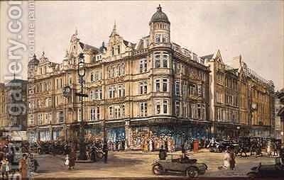 The Old Building Bourne and Hollingsworth Oxford Street by Charles Edward Dixon - Reproduction Oil Painting