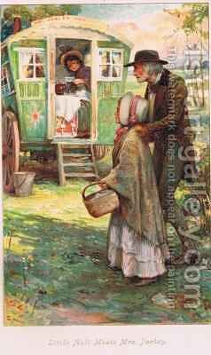 Little Nell meets Mrs Jarley by Arthur A. Dixon - Reproduction Oil Painting