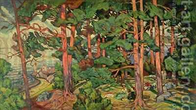 Fauve Landscape 2 by Carl-Edvard Diriks - Reproduction Oil Painting