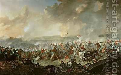 The Battle of Waterloo by Denis Dighton - Reproduction Oil Painting