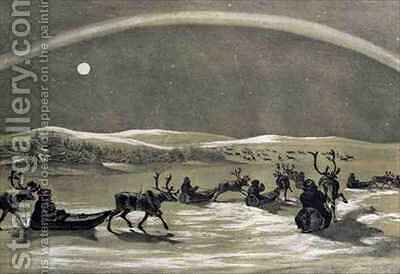 Falling In With A Laplanders Herd of Reindeer by D. and Harding, J.D. Dighton - Reproduction Oil Painting