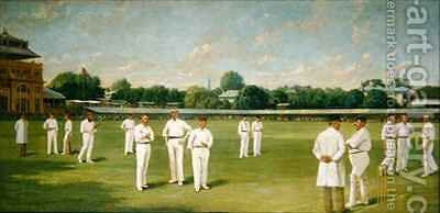 The Players in the Field  Lords on a Gentlemen v Players Day by Dickinsons - Reproduction Oil Painting