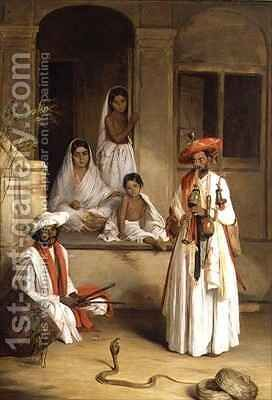 The Snake Charmer by Arthur William Devis - Reproduction Oil Painting