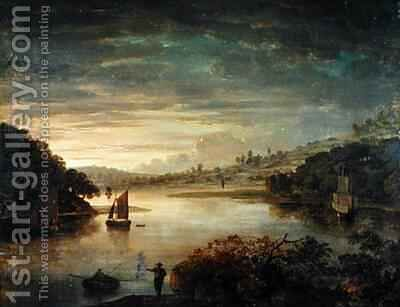 A View on the River Neath in Glamorganshire by Anthony Devis - Reproduction Oil Painting