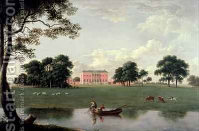 Tabley House by Anthony Devis - Reproduction Oil Painting