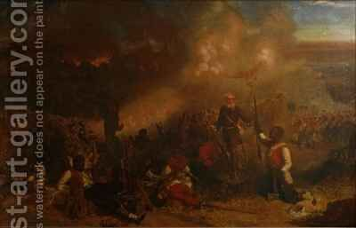 Battle of Tubabecelong by Chevalier Louis-William Desanges - Reproduction Oil Painting