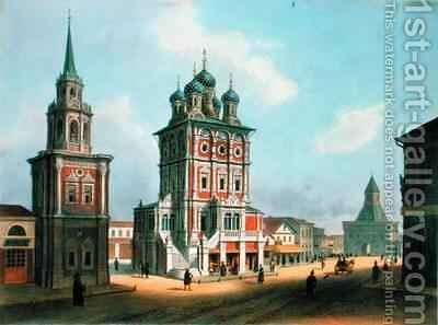 St Nicolas Church at Ilynka Street in Moscow by Isodore Laurent Deroy - Reproduction Oil Painting