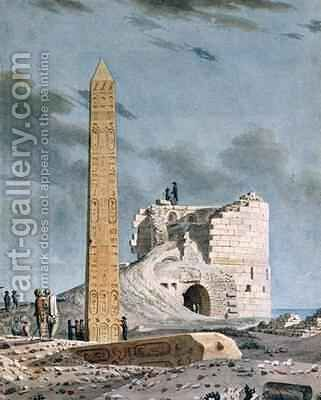 Obelisk of Cleopatra by Dominique Vivant Denon - Reproduction Oil Painting