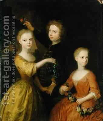 The Children of Councillor Barthold Heinrich Brockes by Balthasar Denner - Reproduction Oil Painting