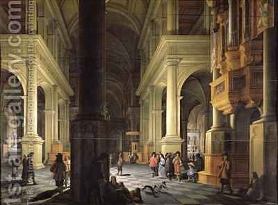 Interior of a Temple 1652 by Anthonie Delorme - Reproduction Oil Painting