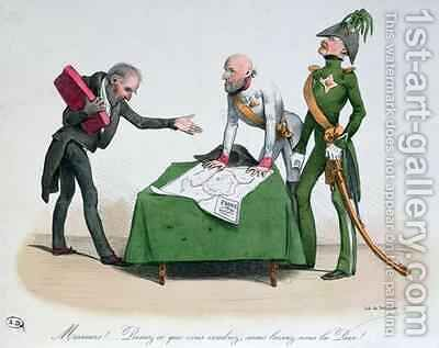 Caricature of the Congress of Vienna 1814-15 by Delaunois - Reproduction Oil Painting