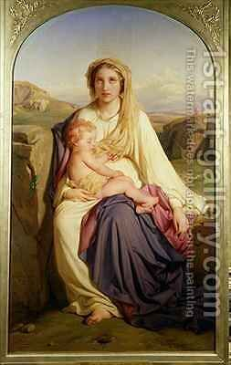 The Virgin and Child by Hippolyte (Paul) Delaroche - Reproduction Oil Painting