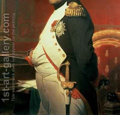 Napoleon 1769-1821 in his Study by Hippolyte (Paul) Delaroche - Reproduction Oil Painting