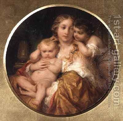 Mother and Children by Hippolyte (Paul) Delaroche - Reproduction Oil Painting