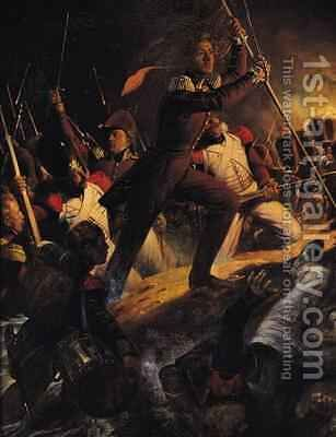 Charles Amedee Albert de Savoie Prince de Carignan 1798-1849 Leading the Assault at the Siege of the Trocadero by Hippolyte (Paul) Delaroche - Reproduction Oil Painting