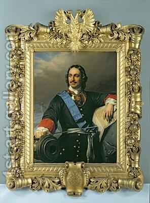 Peter I the Great 1672-1725 2 by Hippolyte (Paul) Delaroche - Reproduction Oil Painting