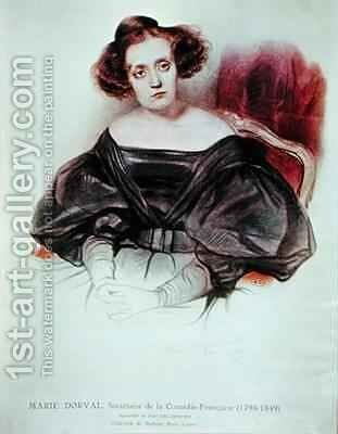 Marie Dorval 1798-1849 in Costume by Hippolyte (Paul) Delaroche - Reproduction Oil Painting