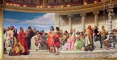Hemicycle Artists of All Ages 2 by Hippolyte (Paul) Delaroche - Reproduction Oil Painting