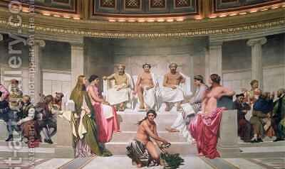 Hemicycle Artists of All Ages 3 by Hippolyte (Paul) Delaroche - Reproduction Oil Painting