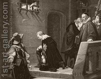 Thomas Wentworth 1st Earl of Strafford is blessed by Archbishop Laud on the way to his execution by (after) Delaroche, Hippolyte (Paul) - Reproduction Oil Painting