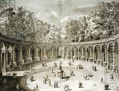 The Colonnade Versailles by (after) Delamonce, F. - Reproduction Oil Painting