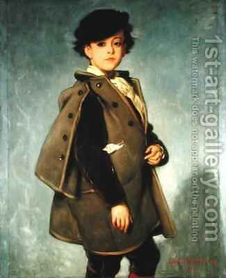 Edmond Dehodencq 1860-87 wearing an Inverness cape by Alfred Dehodencq - Reproduction Oil Painting
