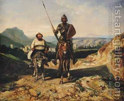 Don Quixote and Sancho by Alexandre Gabriel Decamps - Reproduction Oil Painting