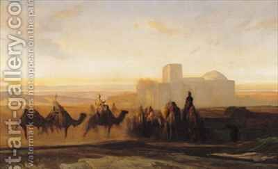 The Caravan by Alexandre Gabriel Decamps - Reproduction Oil Painting