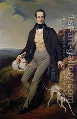 Portrait of Alphonse de Lamartine 1790-1869 by Henri Decaisne - Reproduction Oil Painting