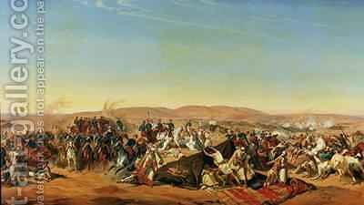 Capture of the Tribe of Abd el Kader 1808-83 by Henri dOrleans 1822-97 Duke of Aumale 3 by Alfred Charles Ferdinand Decaen - Reproduction Oil Painting